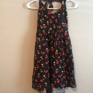 Urban outfitters cherry print halter dress